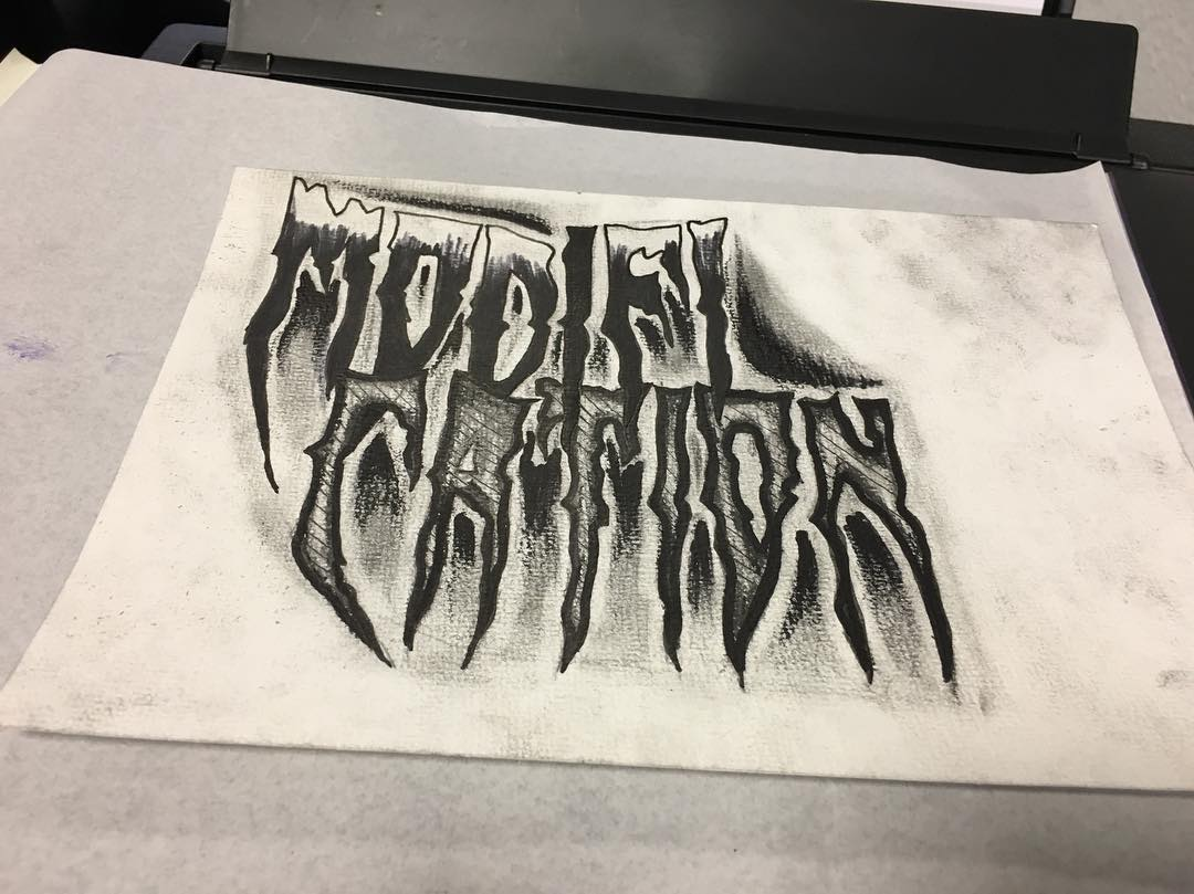 籍先生英文花体字纹身手稿图片